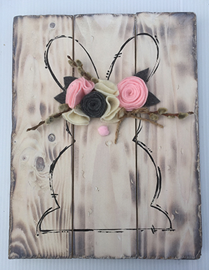 Felt Flower Bunny-300